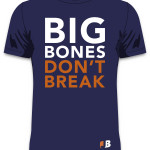 Navy Big Bones Tee (Front)