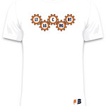 White Gear Up Tee (Front)
